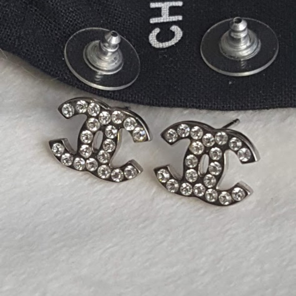 0eab11fc8 CHANEL Jewelry | Swarovski Crystals Cc Stud Earrings | Poshmark